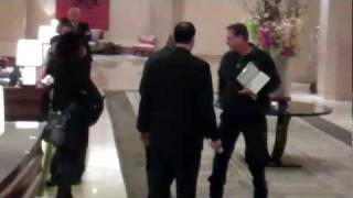 Coroner arrives at The Beverly Hilton hotel to examine Whitney Houston body