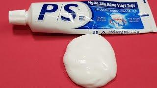 Cách Làm Slime 1 Thành Phần Với Kem Đánh Răng P/S ! Slime P/S toothpaste