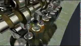 Animation Land Rover Td5 engine