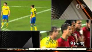 Ronaldo and Ibrahimovic ● Reactions to each other's goals