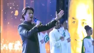 Atif Aslam & Ali Zafar sing the National Anthem of Pakistan!