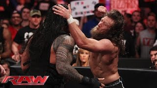 Daniel Bryan and Roman Reigns brawl as Raw goes off the air: Raw, February 16, 2015