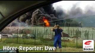 Großbrand im Chemiepark Wolfen