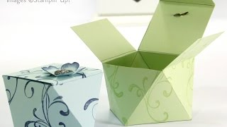 Faceted Gift Box Tutorial using Stampin