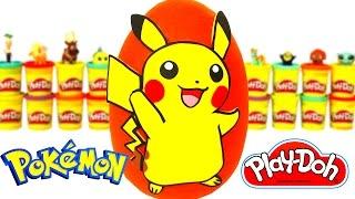 Huevo Sorpresa Gigante de Pikachu de Pokémon en Español de Plastilina Play Doh