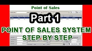 Point of sales step by step using VB.net part1