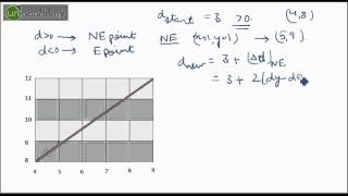 Midpoint Line Drawing Algorithm in Computer Graphics Part- 2 Solved Example