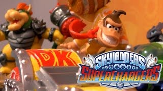 Skylanders Superchargers - Amiibo Donkey Kong & Bowser Wii U Game-Play