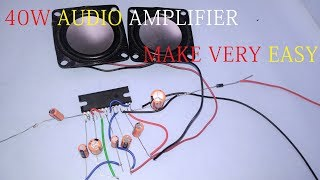 40W Audio Amplifier (Step By Step) Make Very Easy