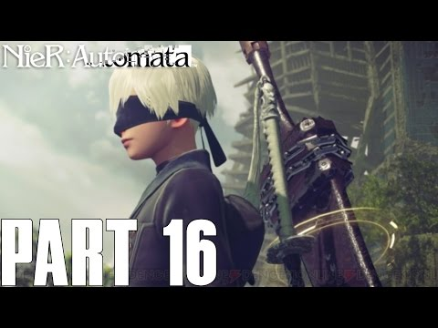 FINDING 9S!!   NieR Automata Part 16 - 2B Campaign Gameplay Walkthrough (PS4 PC HD)