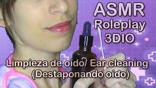 ASMR español . Roleplay limpieza de oído . Ear cleaning . Sonidos cosquillosos