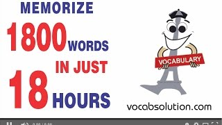 vocabulary for ielts | Memorize 1800 Words In Just 18 Hours