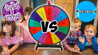 Kate and Lilly vs Friends! Spin the Wheel CHALLENGE!!