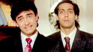 Paresh Rawal, Aamir Khan, Salman Khan - Andaz Apna Apna - Comedy Scene 18/23
