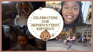 VLOG|Celebrating our Nephew's FIRST birthday and I danced in a flash mob.