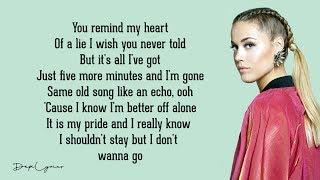 I Don't Wanna Go - Alan Walker, Julie Bergan (Lyrics) 🎵