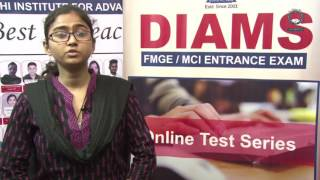 DIAMS MCI EXAM JUNE TOPPER 2016 Dr. Shaista Parveen from Southern Medical University