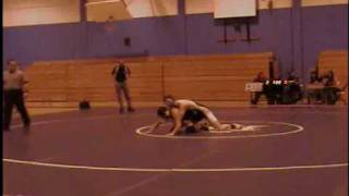 MLK H.S. wrestler Stephen Lorenzo's 5th match vs John Bowne H.S. wrestler Sharof Rashidov