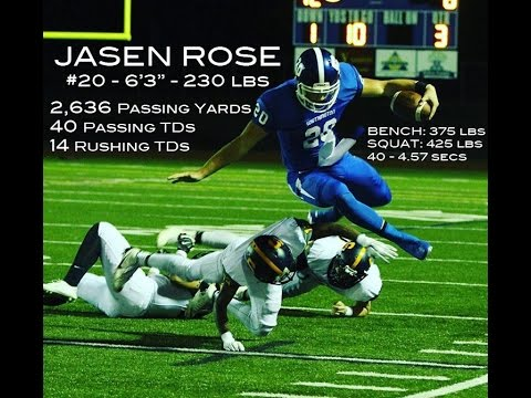 JASEN ROSE - #20 - QB - SENIOR HIGHLIGHTS - CLASS OF 2016 - SOUTHINGTON HIGH SCHOOL