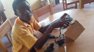 A young Ghanaian inventor
