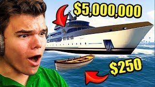 CHEAPEST vs. Most EXPENSIVE Boat In GTA 5!