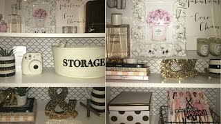 DIY Backsplash + Book Shelf Decor