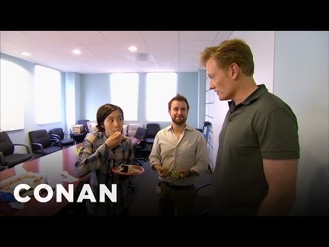 Conan Busts His Employees Eating Cake CONAN on TBS