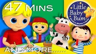 Georgie Porgie | Plus Lots More Nursery Rhymes | 47 Minutes Compilation from LittleBabyBum!