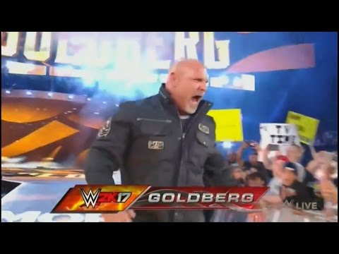 Goldberg RETURNS Entrance to WWE 2016 (Full Entrance) HD