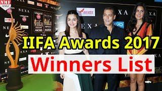 IIFA Awards 2017 Winners List  Katrina Kaif  Shahid kapoor  Alia Bhatt