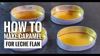 How to make Caramel Syrup for Leche Flan