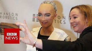 CES 2018: Sophia the robot on Siri and Alexa - BBC News