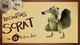 Recreating Scrat in Blender