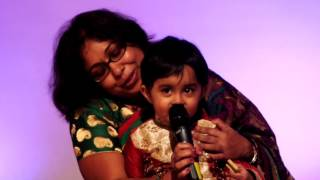 My baby's first stage performance..singing