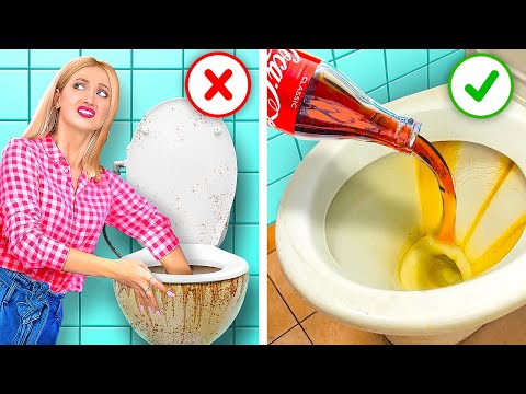 GENIUS CLEANING HACKS TO MAKE YOUR LIFE EASIER Lazy Hacks by 12 Go Live