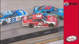 Reed, Almirola end up with damage in three-wide racing at Bristol