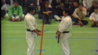 Hirokazu Kanazawa, 10th dan shotokan, kumite demonstration