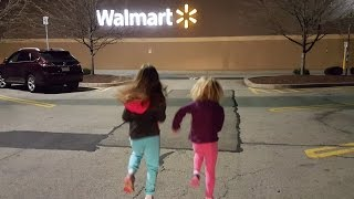 Running in Walmart for Toy shopping fun
