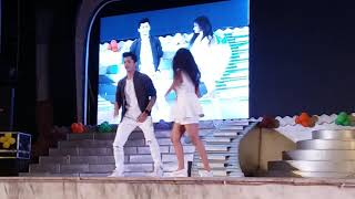 SIDDARTH NIGAM AND AVNEET KAUR SUPERB DANCE PERFOMANCE IN LUCKNOW CMS KANPUR ROAD