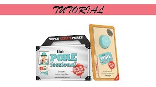 Tutorial: Benefit Cosmetics the POREfessional Instant Wipeout Masks
