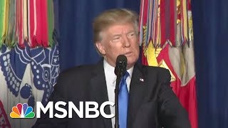 Donald Trump Takes Ownership Of Afghanistan War With New Announcement | Rachel Maddow | MSNBC
