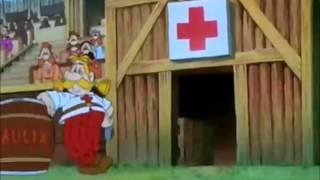 Asterix y Obelix en Bretaña (partido rugby)