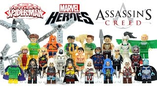 Spider-Man Villains Marvel Super Heroes Assassin's Creed Unofficial LEGO Knockoff Minifigures