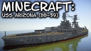 Minecraft: Battleship Tutorial (USS Arizona BB-39)