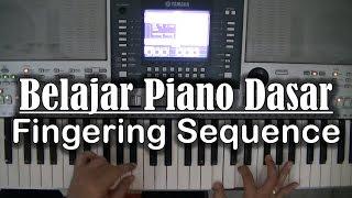 Belajar Piano Dasar - Fingering Sequence