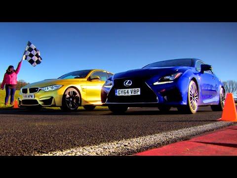 Drag Race Between BMW M4 & Lexus RC F 1 3 Fifth Gear
