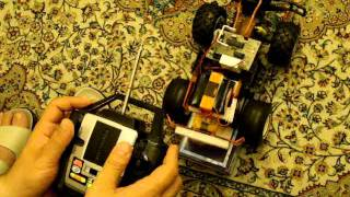 Homemade R/C Car - Transmitter / Receiver Test