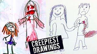 5 CREEPIEST KIDS DRAWINGS