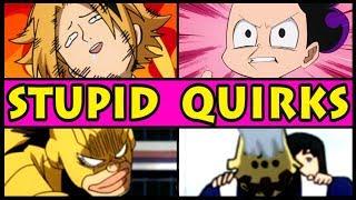 Top 5 STUPID, HILARIOUS Quirks in My Hero Academia! (Boku no Hero Academia Season 3 / S3)