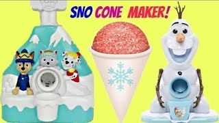 Snow Cone Makers with Paw Patrol and Frozen Machines